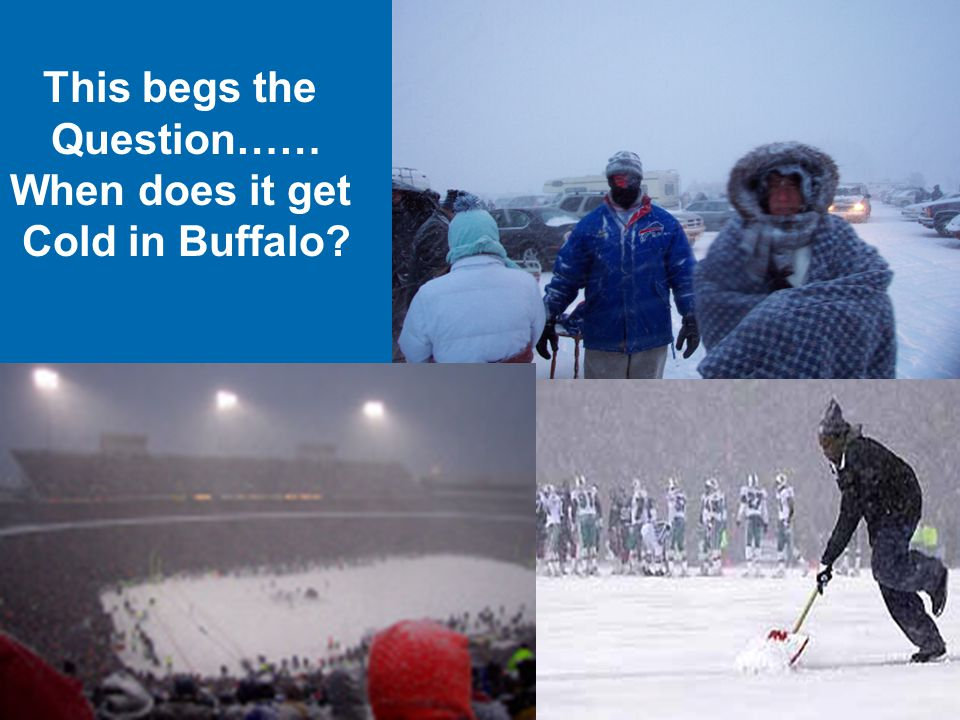 This begs the Question…… When does it get Cold in Buffalo