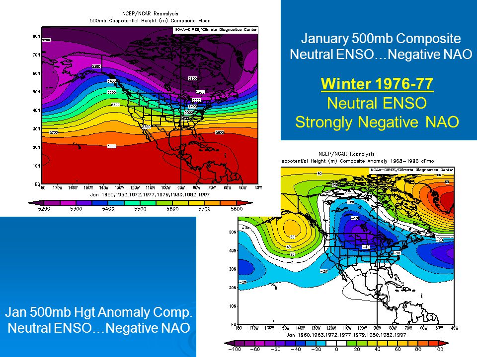Winter Neutral ENSO Strongly Negative NAO