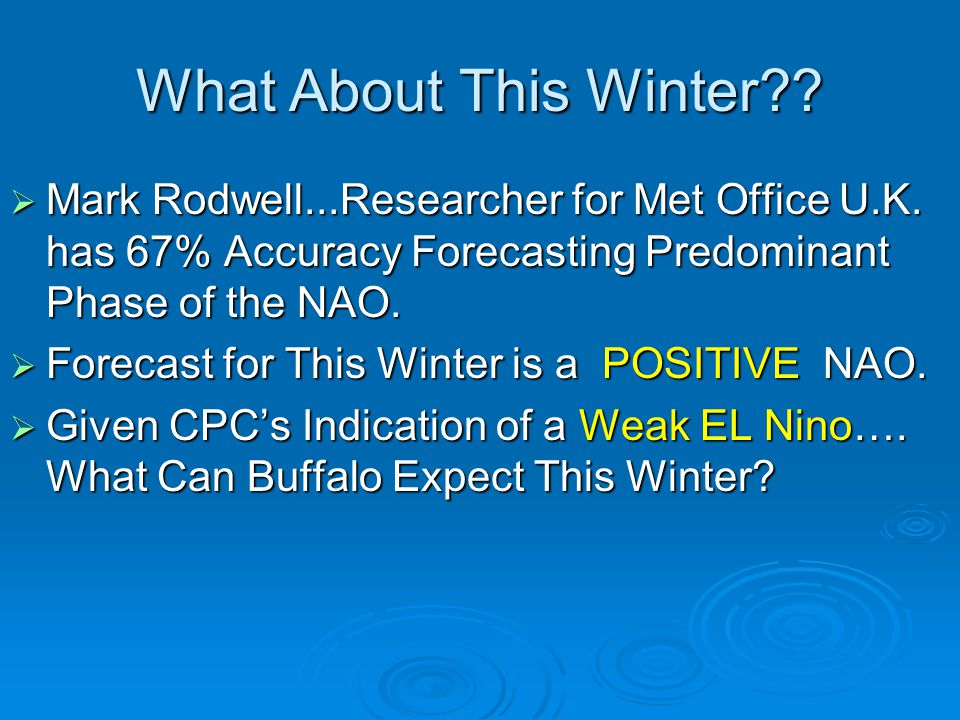 What About This Winter Mark Rodwell...Researcher for Met Office U.K. has 67% Accuracy Forecasting Predominant Phase of the NAO.