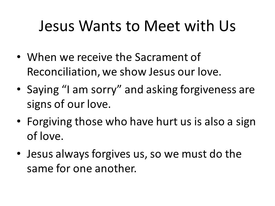 Jesus Heals Us in the Sacrament of Reconciliation - ppt video online