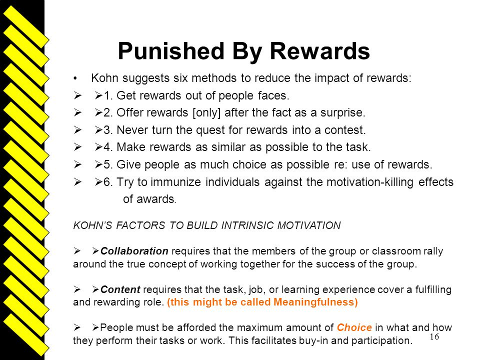 punished by rewards summary