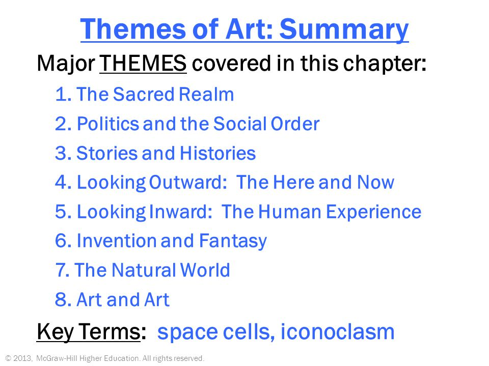 stories and histories art theme