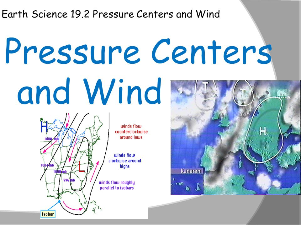 Pressure Centers and Wind