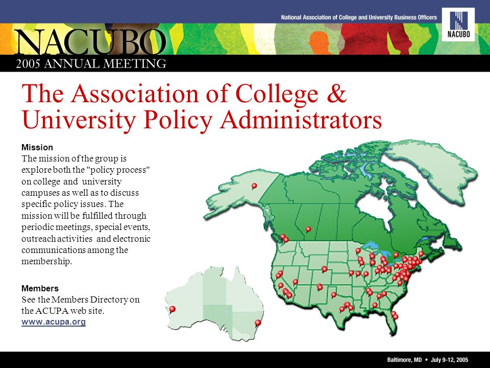 The Association of College & University Policy Administrators