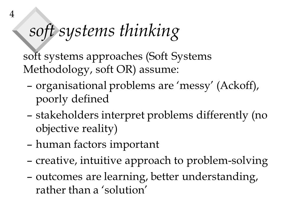 systems thinking approach to problem solving