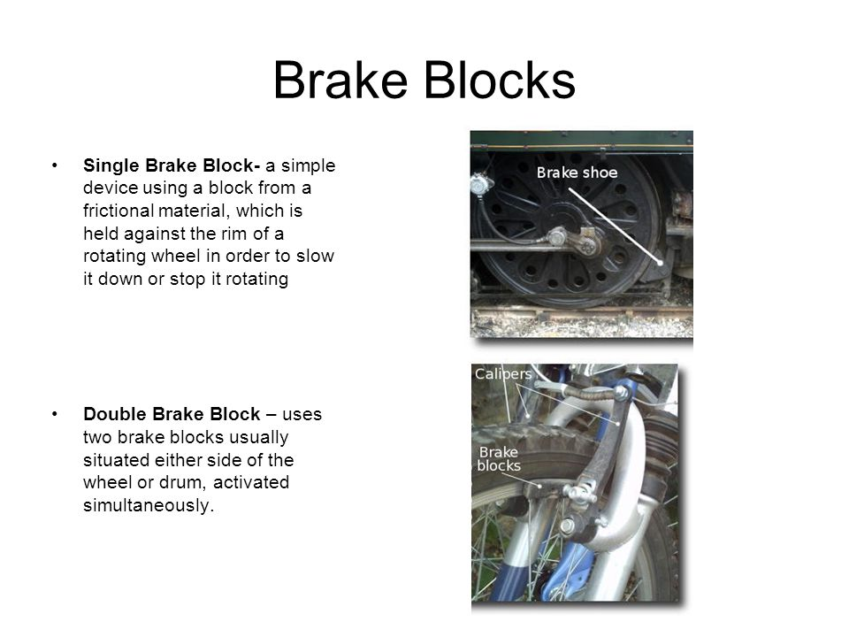 Brake Block Material : Clutches and brakes ppt download