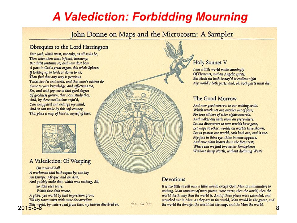 8 A Valediction Forbidding Mourning