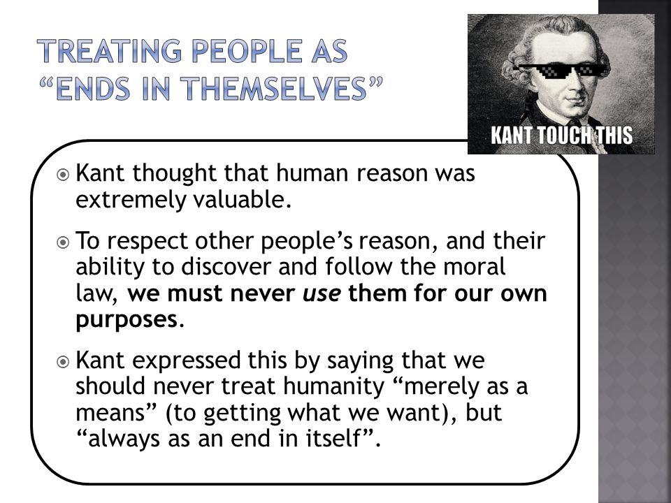 Treating people as ends in themselves