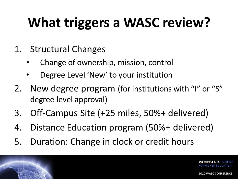 What triggers a WASC review
