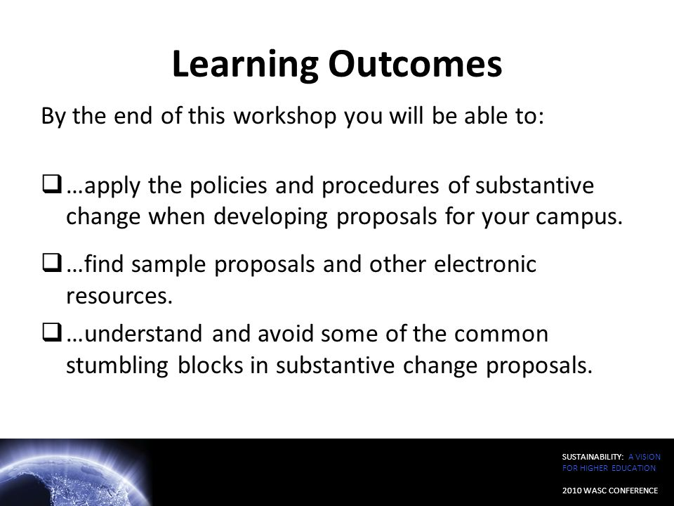 Learning Outcomes By the end of this workshop you will be able to: