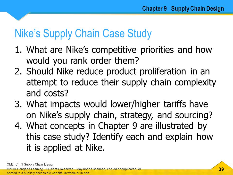 OM2 CHAPTER 9 SUPPLY CHAIN DESIGN DAVID A  COLLIER AND JAMES R