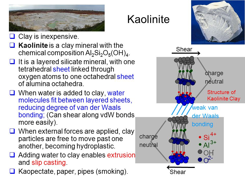 Kaolinite Clay is inexpensive.