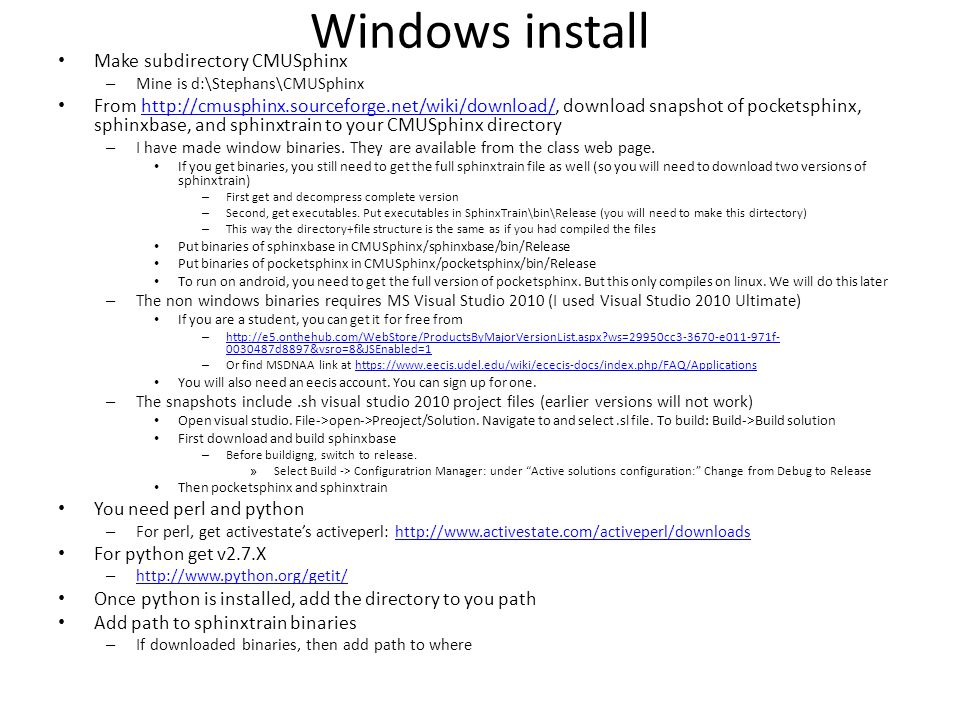 CMUSphinx and pocketSphinx - ppt video online download