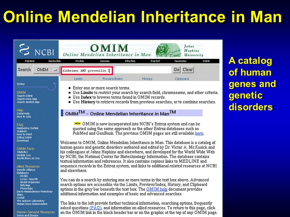 Online Mendelian Inheritance in Man