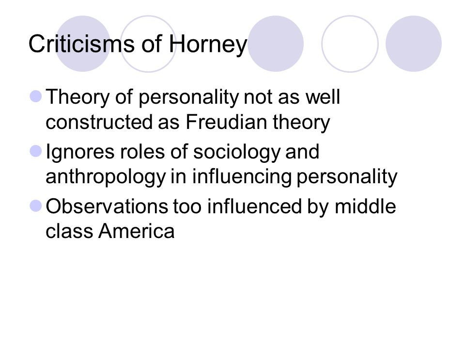 horney theory