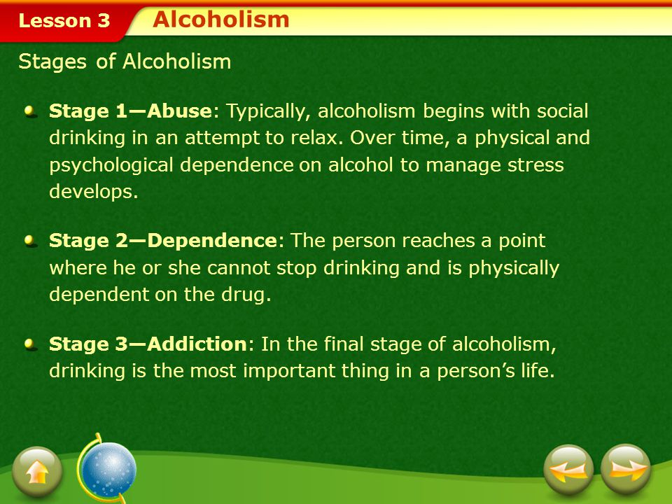 Alcoholism Stages of Alcoholism