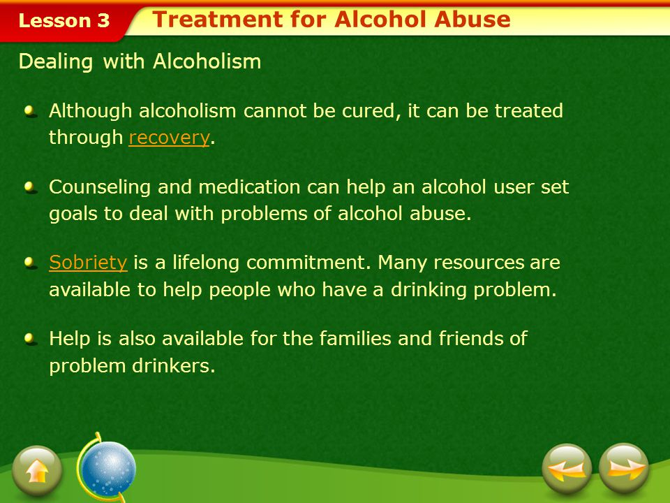 Treatment for Alcohol Abuse