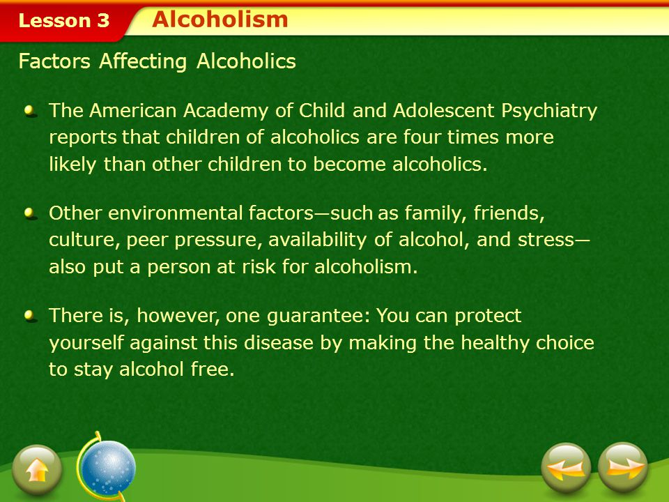 Alcoholism Factors Affecting Alcoholics