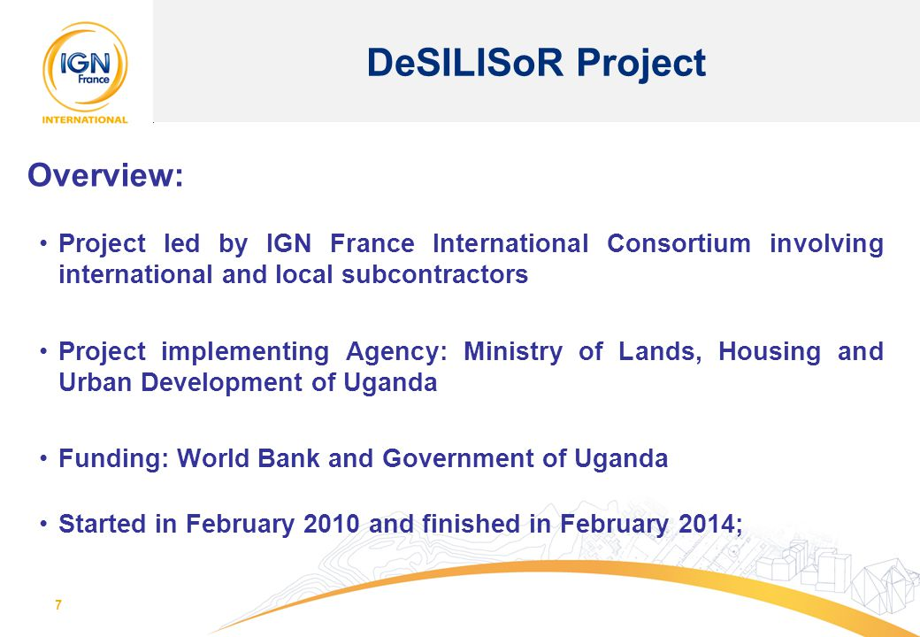 DeSILISoR Project Overview: