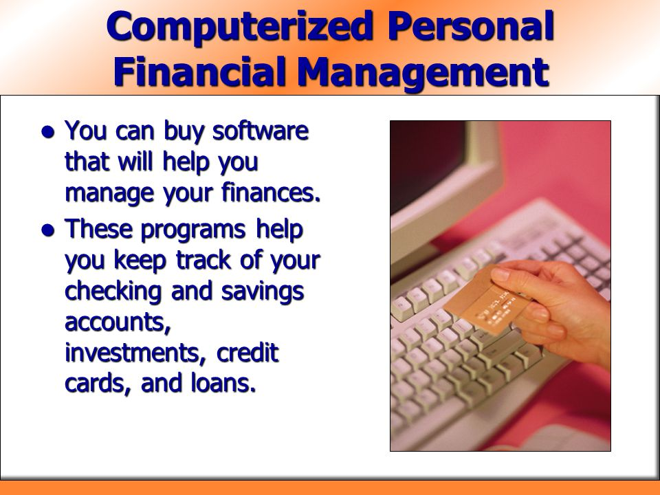 Computerized Personal Financial Management