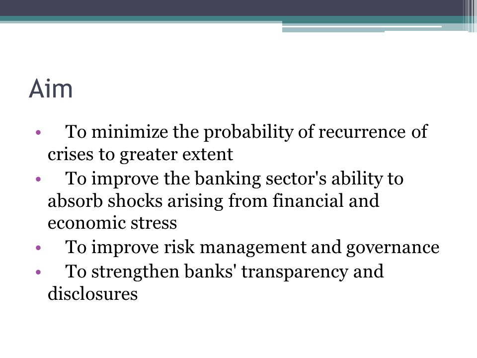Aim To minimize the probability of recurrence of crises to greater extent.