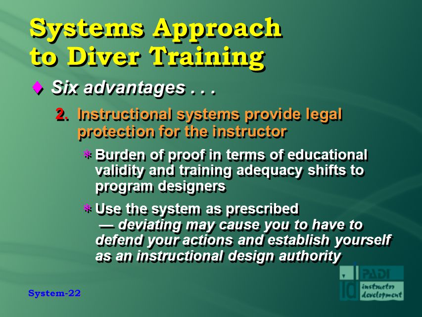 Learning Instruction And The Padi System Ppt Video Online Download