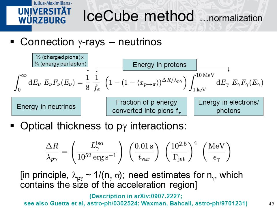 IceCube method …normalization