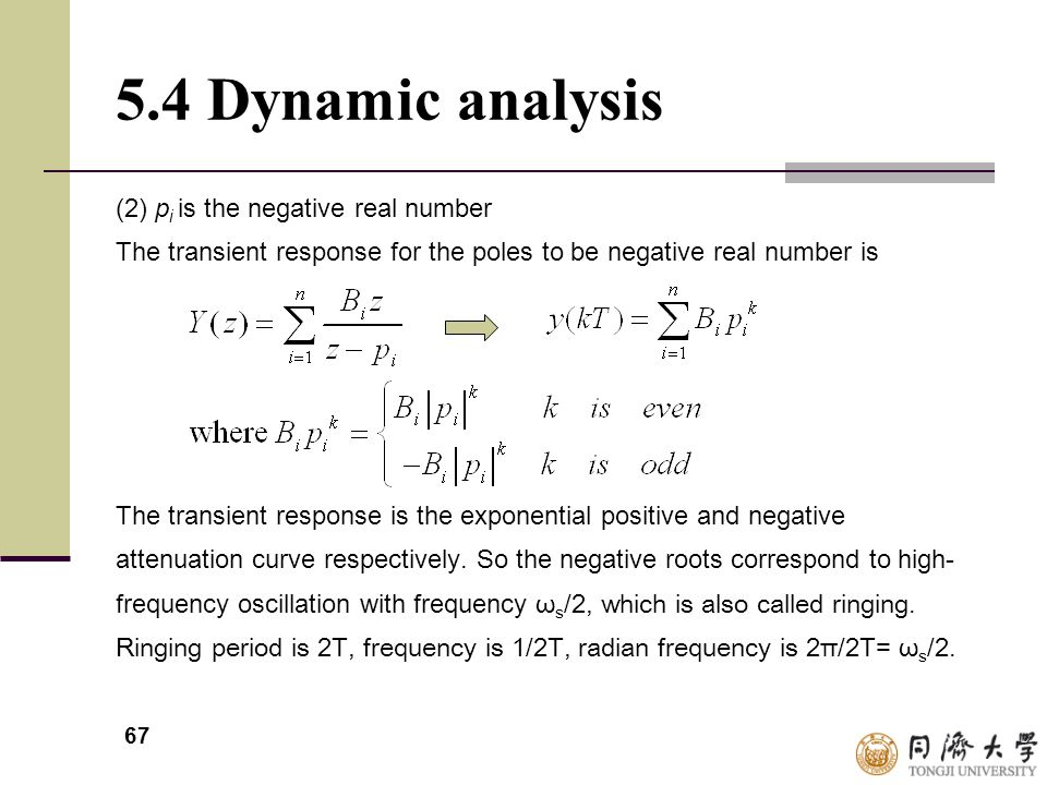 5.4 Dynamic analysis (2) pi is the negative real number