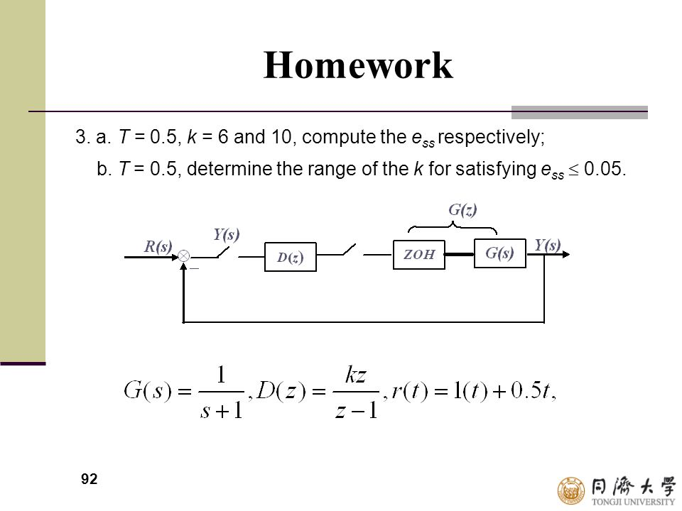 Homework 3. a. T = 0.5, k = 6 and 10, compute the ess respectively;