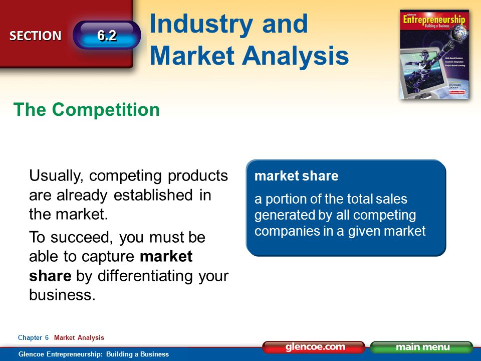 The Competition Usually, competing products are already established in the market.