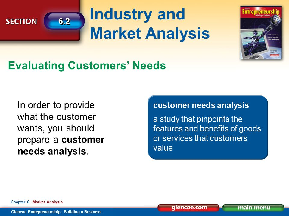 Evaluating Customers' Needs