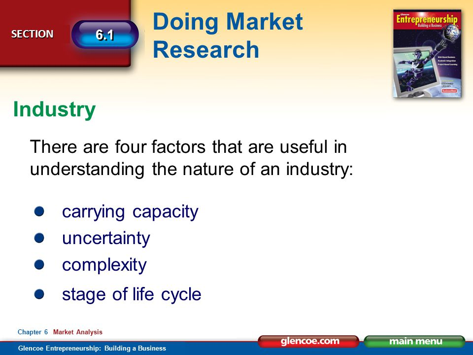 Industry There are four factors that are useful in understanding the nature of an industry: carrying capacity.
