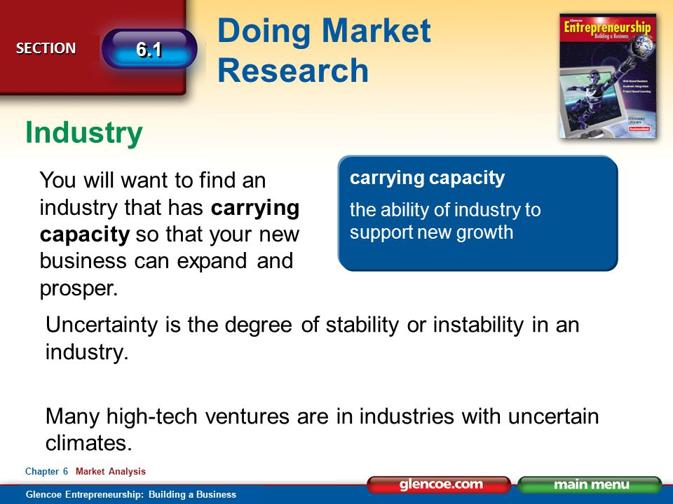 Industry carrying capacity. the ability of industry to support new growth.