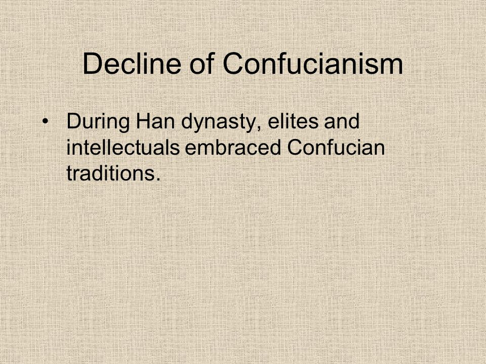 Decline of Confucianism