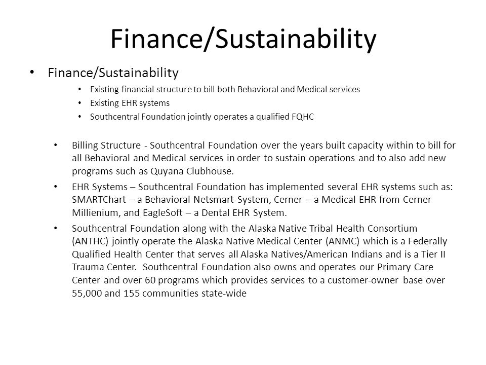Finance/Sustainability