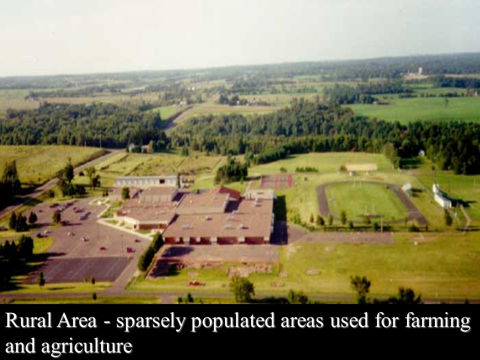 sparsely populated areas