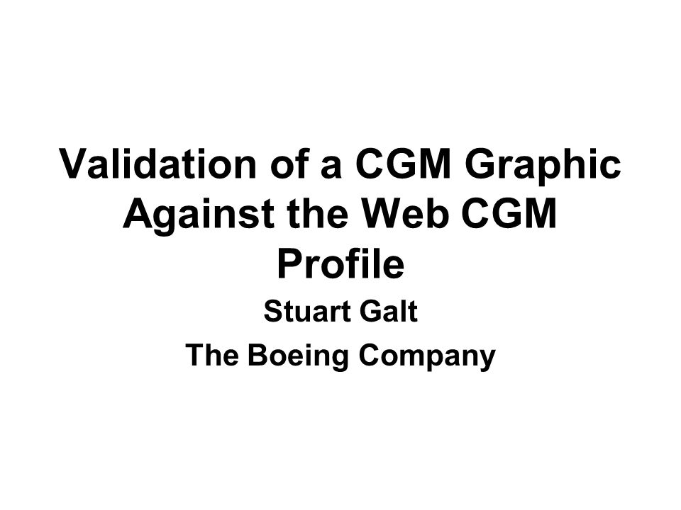Validation of a CGM Graphic Against the Web CGM Profile