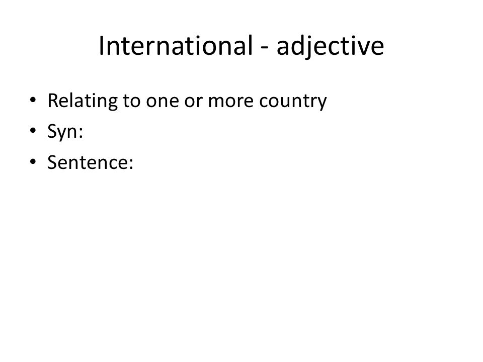 International - adjective