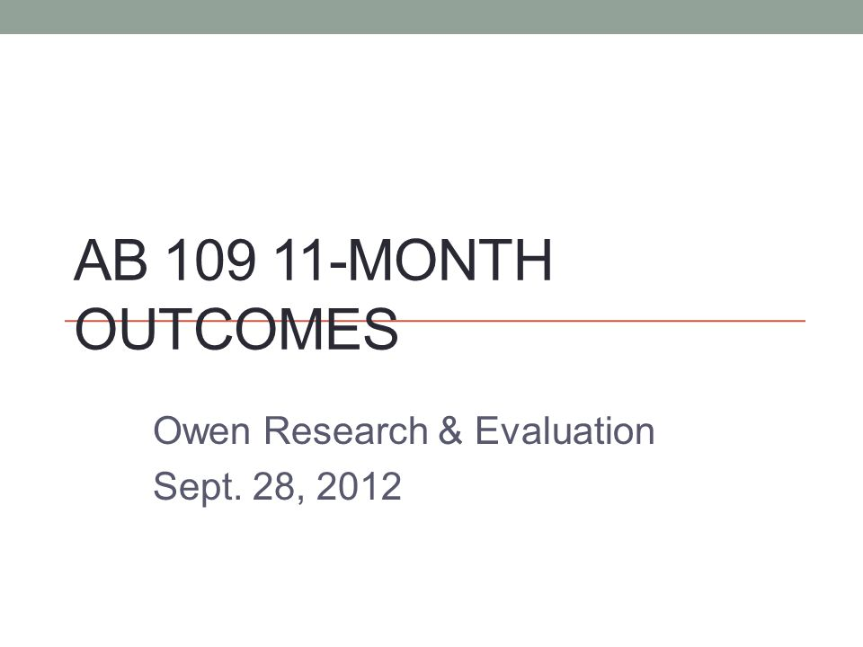 Owen Research & Evaluation Sept. 28, 2012