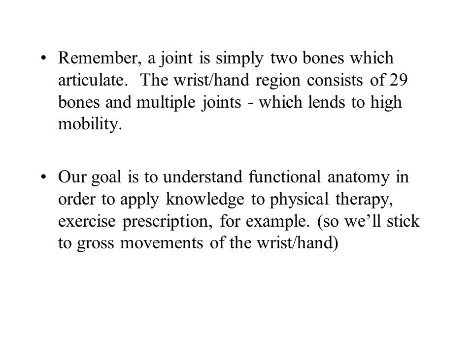 The Wrist and Finger Joints - ppt video online download