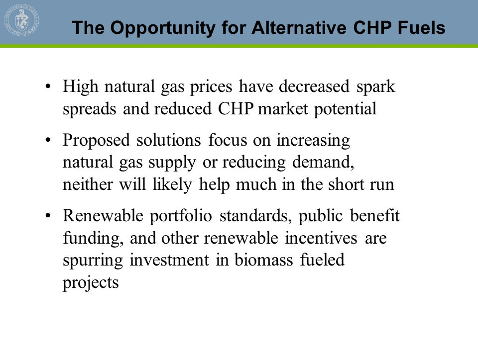 The Opportunity for Alternative CHP Fuels