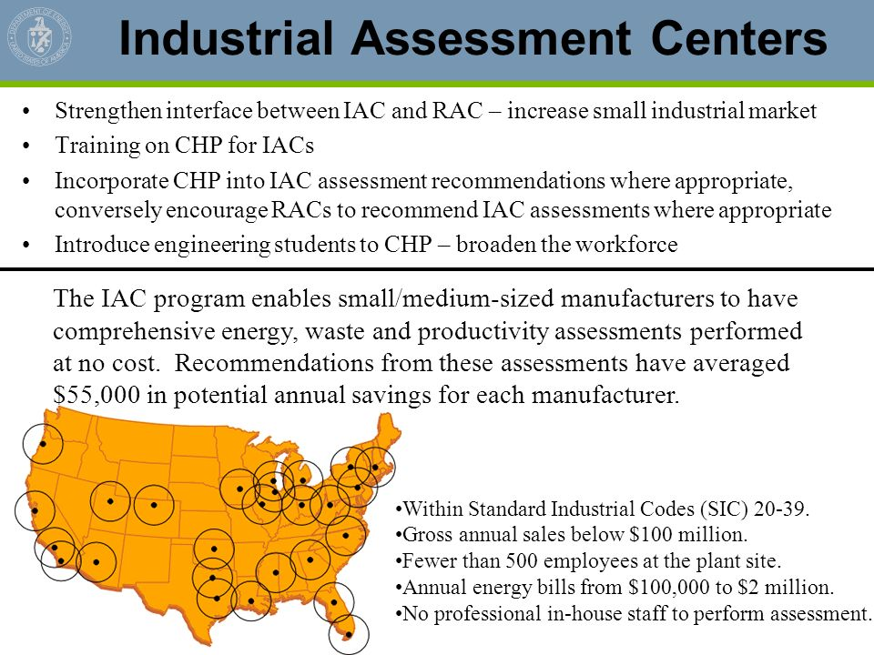 Industrial Assessment Centers