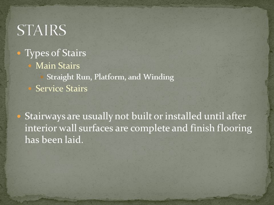 STAIRS AND STAIR FRAMING - ppt video online download