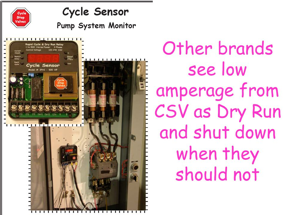 Other brands see low amperage from CSV as Dry Run and shut down when they should not
