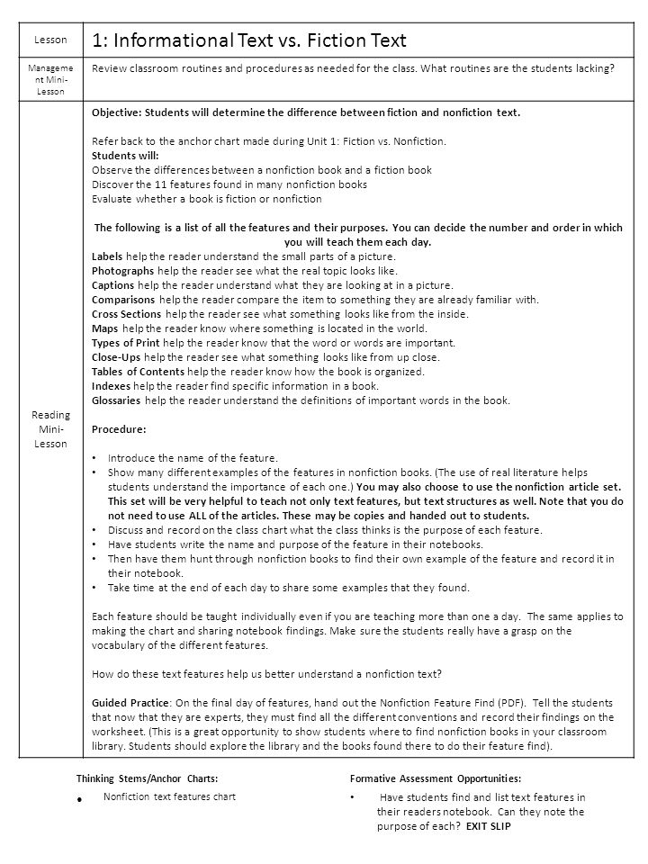 Unit 2 Nonfictionpennsylvania Ppt Download. Management Minilesson. Worksheet. Elements Of Nonfiction Worksheet At Clickcart.co