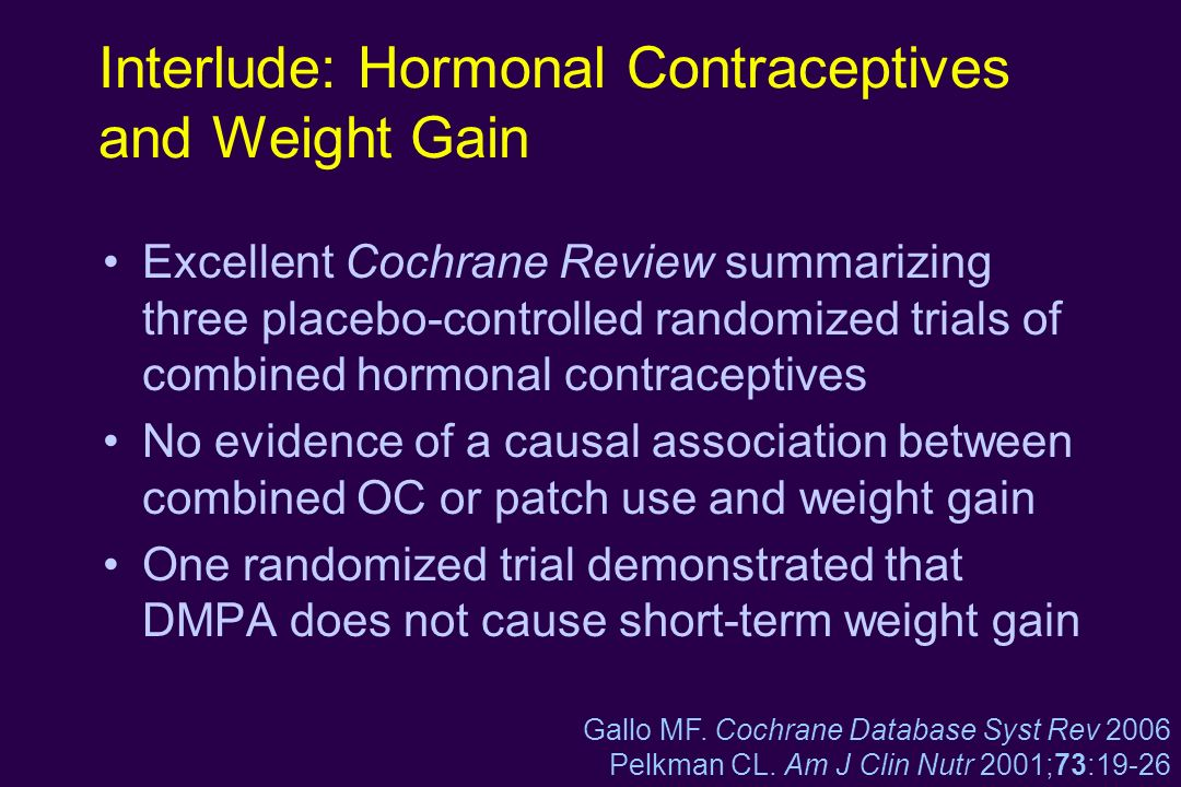 Interlude: Hormonal Contraceptives and Weight Gain