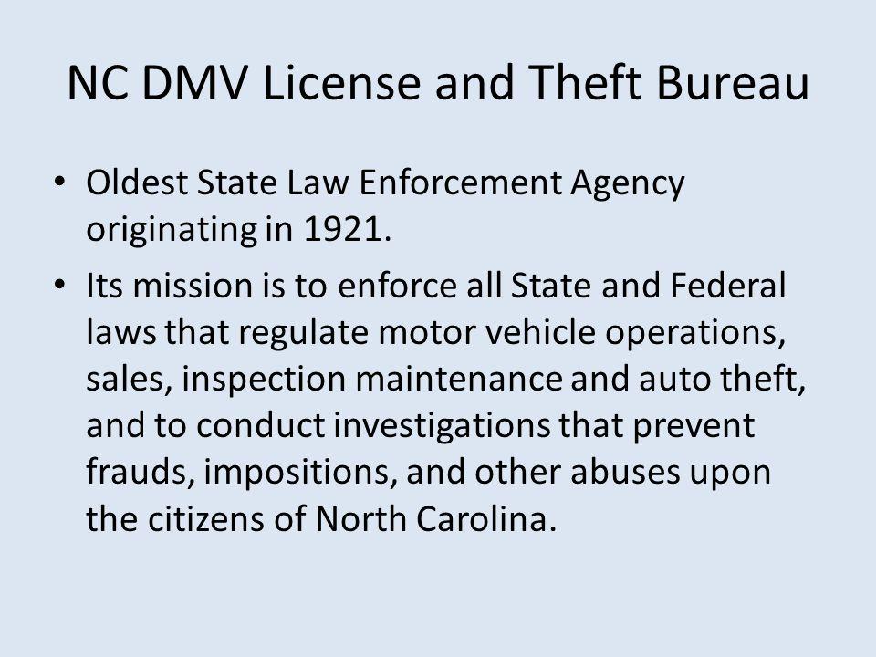 NC DMV License and Theft Bureau - ppt video online download