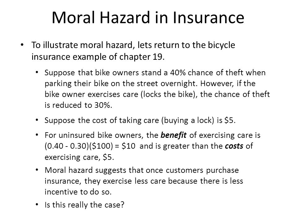 Chapter 20: the problem of moral hazzard ppt video online download.