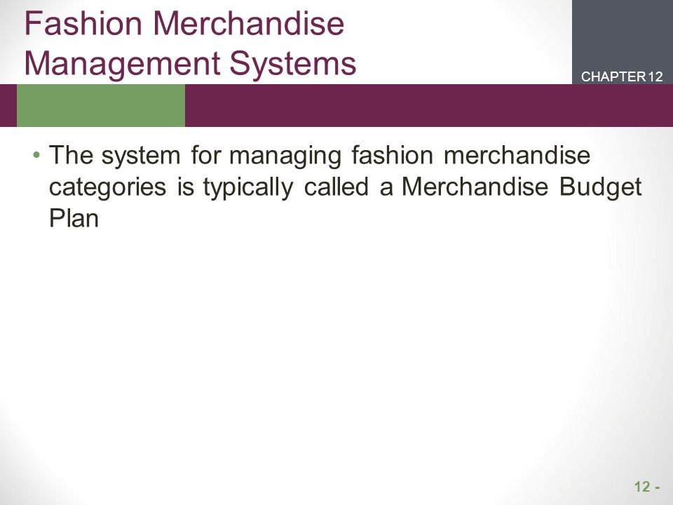 Fashion Merchandise Management Systems