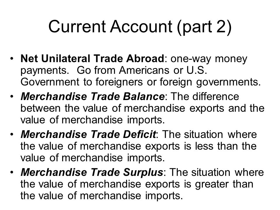 Current Account (part 2)